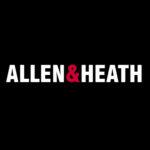 Allen and Heath logo on black background