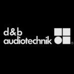 d&b Audiotechnik logo white on black background